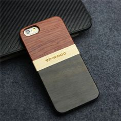 Mixed Wooden Case for iPhone 6 /6s 4.7 Inch Splicing Real Wood Phone Cover with Ebony