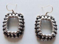 Superduo earrings by BijouxAndSoutache on Etsy