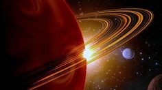 ASTRONOMERS say they have found the first-ever ringed planet beyond our solar system, a super-world with a girdle of halos 200 times bigger than Saturn's.