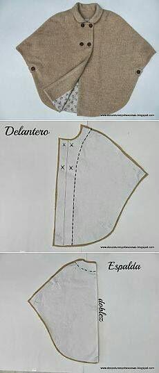 Vintage cape pattern