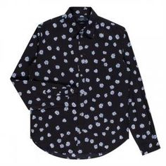 Paul Smith Men's Tailored-Fit Black 'Explosion' Print Shirt