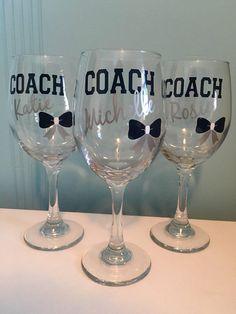 Cheerleading Coach Wine Glass Cheerleading Coach's Gift