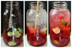 """Naturally Flavored Water -- An easy formula for making an endless variety of fruit and herb infused waters. Say goodbye to soda, juice, and bottled water with these refreshing, healthy """"spa water"""" flavors! Fruit Water Recipes, Flavored Water Recipes, Fruit Infused Water, Infused Waters, Flavored Waters, Citrus Water, Mint Water, Refreshing Drinks, Yummy Drinks"""