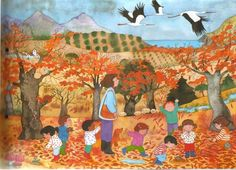 Anem a buscar fulles Seasons Months, Autumn Activities, Speech And Language, Preschool, Images, Fall, Pictures, Painting, Puzzles