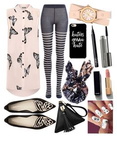 """""""this is me love me or hate me"""" by ivy-mary-clark ❤ liked on Polyvore featuring WearAll, Sophia Webster, Sonia Rykiel, Old Navy, Michele, Chanel, MAC Cosmetics and NARS Cosmetics"""