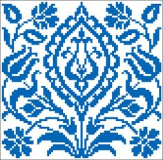 Persian square | Chart for cross stitch or filet crochet.