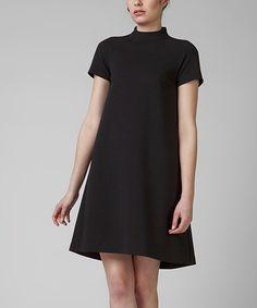 Loving this Black Idalia Mock Neck Dress on #zulily! #zulilyfinds
