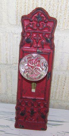 VintageInpired Cast Iron Decorative Door Plates by ShabbrusticChic