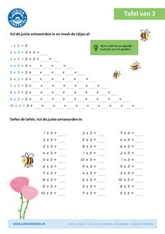 Vul de rijtjes in Math Multiplication, Preschool Printables, Homeschool, Classroom, Teaching, Kids, Preschool Math Activities, Exercises, Libros