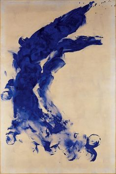 Yves Klein(French, 1928-1962) Anthropometry: ANT 130 1960 Bodyprint/torso of pigment and synthetic resin paint on paper, on canvas
