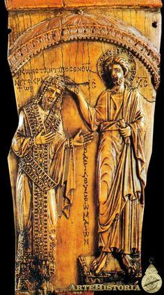 Cristo coronando al emperador Constantino VII - ,Marfil,Siglo X