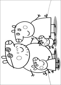 coloring page Peppa Pig on Kids-n-Fun. Coloring pages of Peppa Pig on Kids-n-Fun. More than coloring pages. At Kids-n-Fun you will always find the nicest coloring pages first! Peppa Pig Coloring Pages, Cartoon Coloring Pages, Colouring Pages, Coloring Books, Bolo Da Peppa Pig, Peppa Pig Birthday Cake, Free Coloring, Coloring Pages For Kids, Peppa Pig Familie