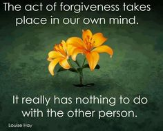 Forgiveness is Difficult.