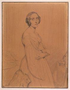 Théodore Chasseriau | Portrait de Marie d'Agoult | Images d'Art