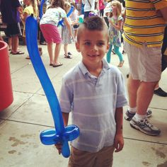 The balloon man was a huge hit at our Church Harvest Carnival!