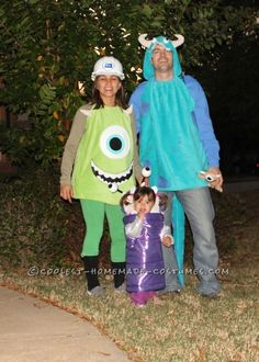 Coolest Little Boo and Monsters inc costumes.
