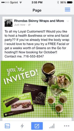 Host a party!! I also do online parties! Contact me http:/:Rhondab.myitworks.com #bodywraps #bodywrapparties #virtualparties #onlineparties #itworks