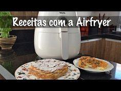 Torta de Maçã e Omelete Caprese na Airfryer