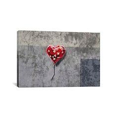 Bandage Heart (Full) by Banksy Canvas Print