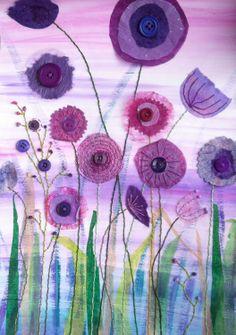 Purple Haze - Mixed media by Christine Pettet Art www.facebook.com/christinepettetart