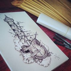 Lighthouse / Boat / Compass by EdwardMiller.deviantart.com on @deviantART