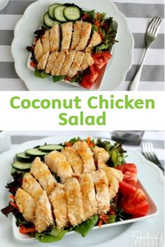 This Coconut Chicken Salad with Honey Mustard Vinaigrette is a healthy and delicious meal you can whip together in less than 30 minutes! Add fresh garden vegetables to add extra flavor and nutrition.