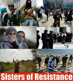 Mighty sisters of Palestine standing up against the TERRORIST APARTHEID RACIST ISRAHELL!