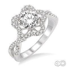 1/2 Ctw Diamond Semi-Mount Ring in 14K White Gold