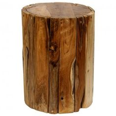 Tropica Driftwood Drum Stool Brown