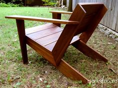 Custom Made Modarondack - Modern Adirondack Chair