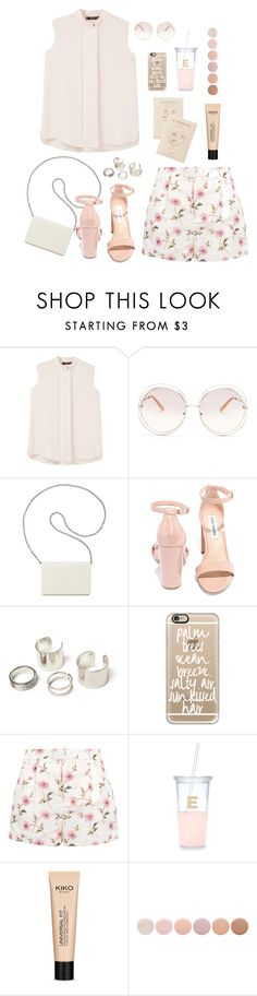 """""""~"""" by jovanax97 ❤ liked on Polyvore featuring MANGO, Chloé, Nine West, Steve Madden, Casetify, RED Valentino, Kate Spade, Deborah Lippmann, Summer and girly"""