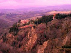 Abbey of Monte Oliveto Maggiore, Tuscany, Italy.