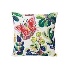 Exotic Butterfly | Schumacher Geometric Wallpaper, Wallpaper Roll, Fabric Wallpaper, Butterfly Pillow, Fabric Rug, Cushion Pads, Schumacher, Pottery Barn, Decorative Pillows