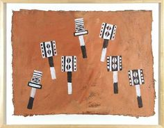 Yvonne Metzemaekers - Maskerdans 7 1999 - D87010 - Acrylverf - 70 x 90 cm