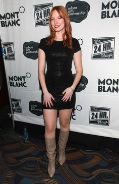 Alicia Witt Photos Photos - MONTBLANC Presents the Annual Production of The 24 Hour Plays on Broadway - After Party Arrivals - Zimbio Alicia Witt, Pretty Redhead, Red Hair Woman, Broadway Plays, Dress Hairstyles, Lovely Legs, Jennifer Aniston, Actress Photos, American Actress