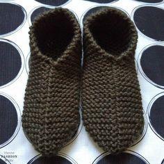 DIY free knitting instructions Home-made slippers - Best Stricken Diy Free Knitting Patterns, Knitting Websites, Knitting Blogs, Easy Knitting, Knitting For Beginners, Knitting Socks, Crochet Patterns, Knit Stockings, Knitted Slippers