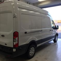 Next victim is cleaned and ready for a new wrap tomorrow #fleetgraphics #wrap #keepumcoming #ford #fordvan #transit #millersigncorporation #millersigncorp  MillerSignCorp.com 714-998-8411