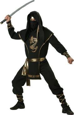 In Character Costumes, LLC Ninja Warrior Set, Black/Gold, Large Reviews