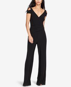Lauren Ralph Lauren Stretch-Jersey Cold Shoulder Jumpsuit - Pants - Women - Macy's