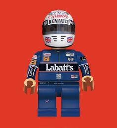 Nigel Lego Mansell '92    British legend, Nigel Mansell in lego form 1992