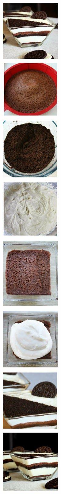 Oreo Tiramisu Recipe Tiramisu Recipe, Trifle Recipe, Desserts To Make, Delicious Desserts, Yummy Food, Cupcakes, Cupcake Cakes, Homemade Sweets, Sweet Cheeks