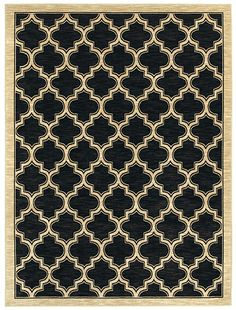 Stay on trend with the Milazzo Moroccan print rug.
