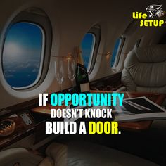 IF OPPORTUNITY DOESN'T KNOCK BUILD A DOOR. Building A Door, English Quotes, Knock Knock, Opportunity, Doors, Life, Gate