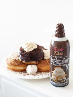 Give us s'more donuts 😋 Try adding our Gay Lea Toasted Marshmallow Whipped Cream to make your treats more decadent🍩  #CampfireFeeling Cookies Light, Coconut Whipped Cream, Toasted Marshmallow, Banana Split, Whipped Topping, Frappe, Natural Flavors, Recipe Using, Donuts