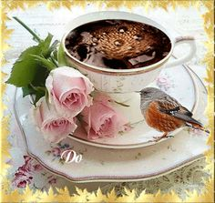 Good morning friends, it's coffee time ~. Coffee Gif, Coffee Images, Coffee Love, Coffee Break, Coffee Cups, Tea Cups, Drink Coffee, Good Morning Coffee, Good Morning Gif