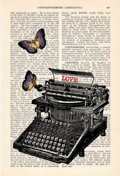 ...remembering my past jobs...loved 'em! Love the old typewriters!