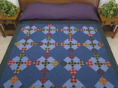 Double Nine Patch Quilt -- magnificent made with care Amish Quilts from Lancaster (hs6096)