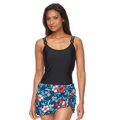Women's Croft & Barrow® Hip Minimizer D-Cup Swimdress