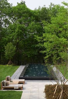 The simple modern design of this pool looks so relaxing.
