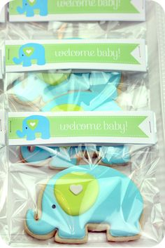 Para empacar laa galletas o loa recuerditos... baby shower idea
